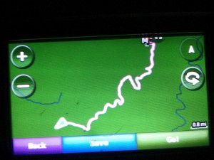 GPS image of walking route